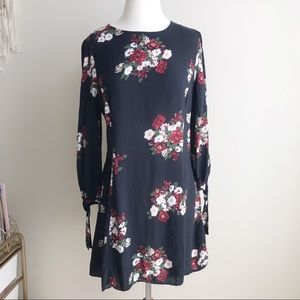 Zara women dark Floral Dress